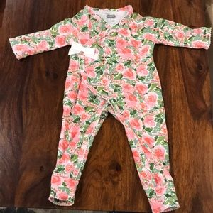 MudPie flower outfits 0-3 months